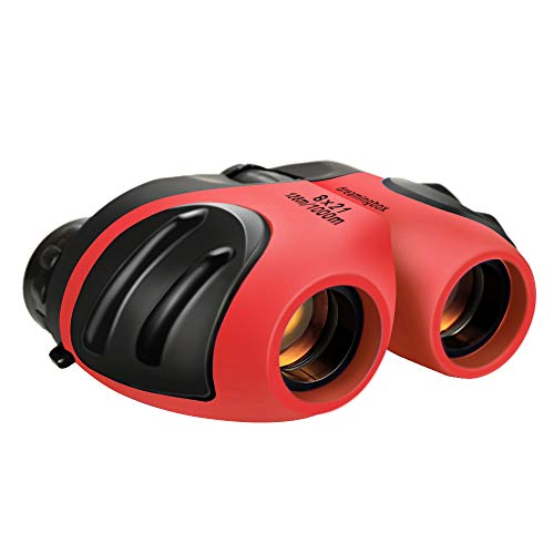 Gifts for 3-12 Year Old Girls, TOG Gift 8x21 Compact Binoculars Toys for 3-12 Year Old Girls Boys Gifts for 3-12 Year Old Boys 2019 New Gifts for Teen Girls Girlsstocking Fillers Red TGUS04 ()