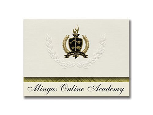 Signature Announcements Mingus Online Academy (Cottonwood, AZ) Graduation Announcements, Presidential style, Basic package of 25 with Gold & Black Metallic Foil seal