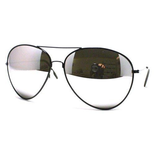 Super Oversized Aviator Sunglasses Unisex Fashion Big Mirror Lens