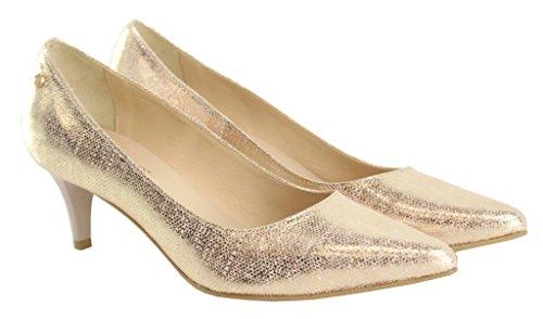 BOSCCOLO 4626 Low High Heels 5cm, Talons aiguilles Comfort, Leather, Leder, Cuir Veritable