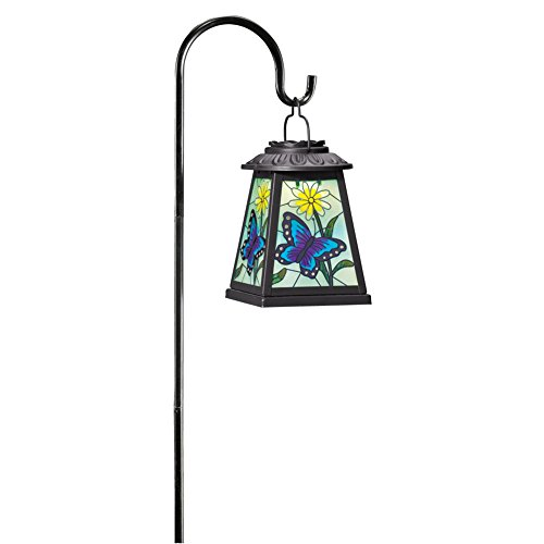 Collections Etc Solar-Powered Butterfly Lantern