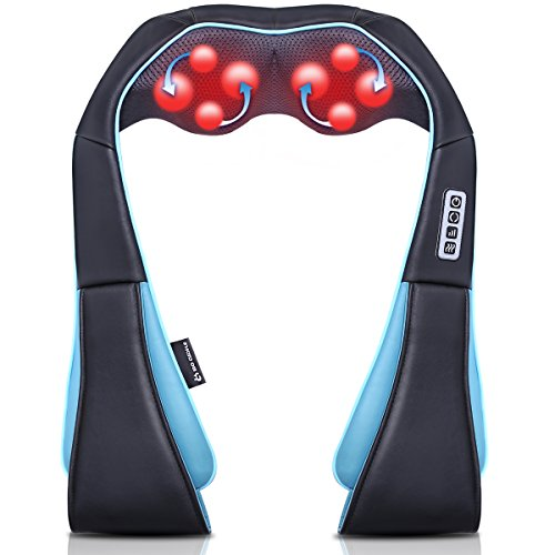 Read About Neck Shoulder Back Massager with Heat - Shiatsu Neck Massager Present for Christmas Gift ...