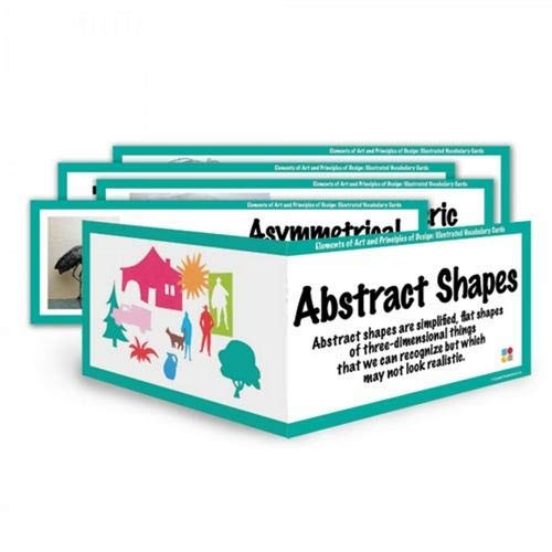 American Educational Products CP1848,''Art Display Cards-E.'' Set, Pack of 8 Sets