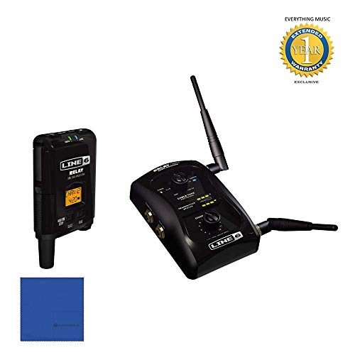 Line 6 Relay G50 Wireless Guitar System with Microfiber and 1 Year Everything Music Extended Warranty