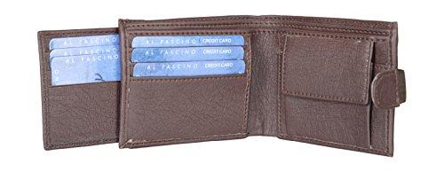 Al Fascino Stylish Brown PU Leather Wallet