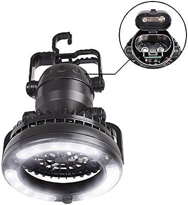 Vovoly lámparas de camping con ventilador de techo para Pesca,Senderismo,Exterior e Interior: Amazon.es: Jardín