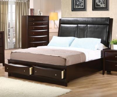 Phoenix Upholstered Storage Platform Bed ()