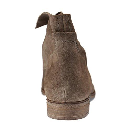 Gabor 31-661-12 - Zapatos de Cordones de terciopelo mujer gris