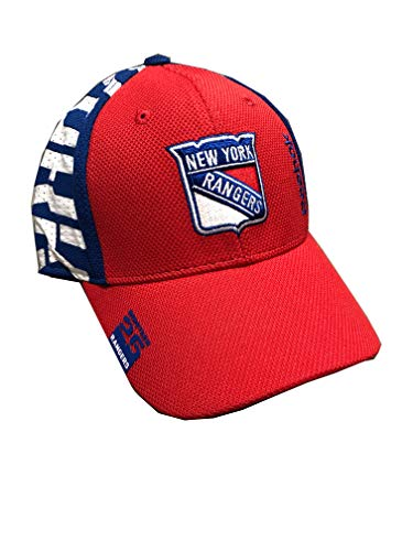 Outerstuff New York Rangers Reebok Nineteen 25 1925 Collection Youth 8-20 Red/Blue Primary Logo Basic Fitted Structured Hat Cap (One Size 8-20) ()
