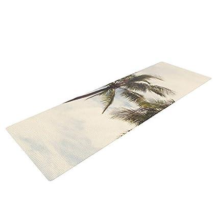 Kess InHouse Catherine McDonald Boho Palms Exercise Yoga Mat, Coastal Trees, 72