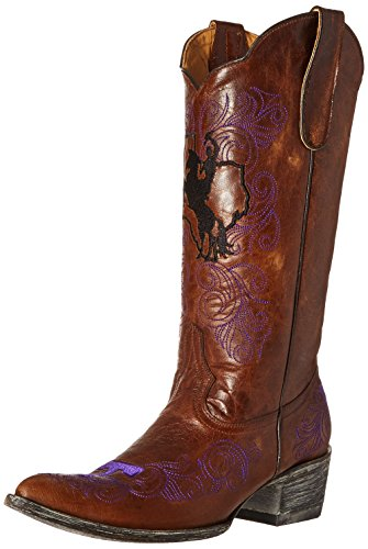 NCAA Tarleton State Texans Womens 13-Inch Gameday Boots Brass