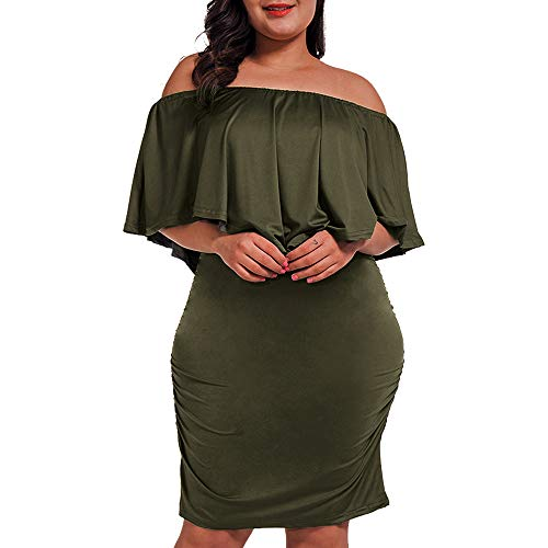 Off Shoulder Plus Size Dress