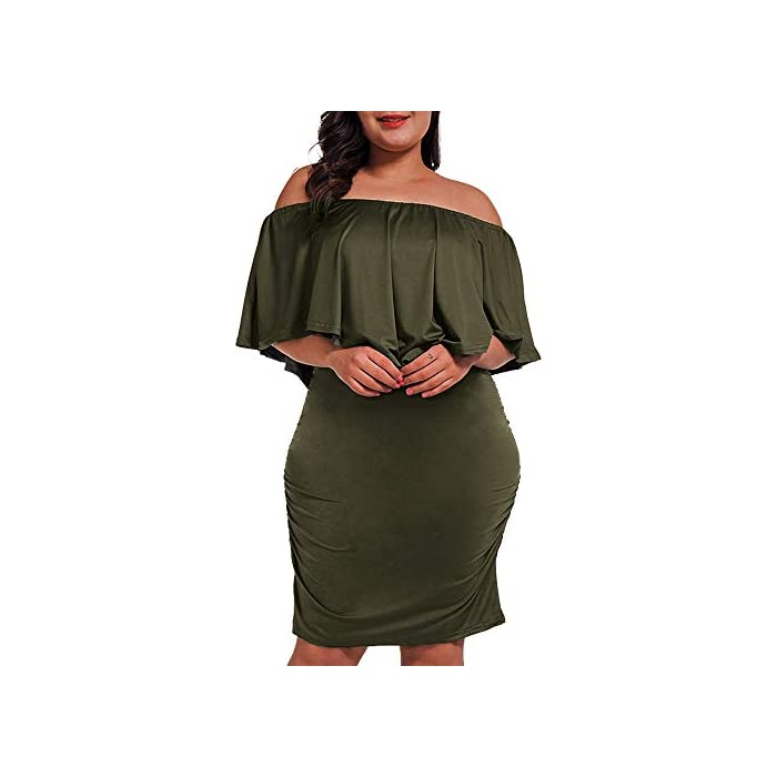 0e5d75ea32 Off Shoulder Plus Size Dress - Plush1.com