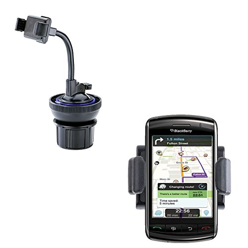 Ultra Compact Blackberry 9550 9530 9520 9570 Car / Truck Mounting System Features Both Cupholder and Flexible Windshield Suction Mounts