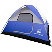 6-Person Tent, Water Resistant Dome Tent for Camping With...