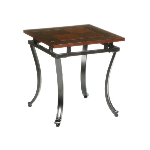 Southern Enterprises Modesto End Table, Espresso Finish