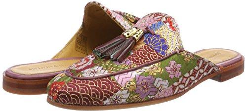 2 Mujer Melvin Glory Burgundy Morado Para textile ls Turquoise Scarlett Nat plum amp;hamilton tassel Mules 1qESCw