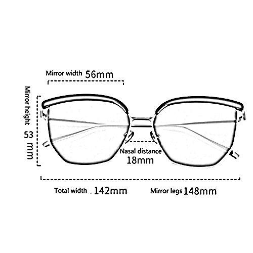 personnalité de Lunettes soleil et B lunettes hipster hommes Amazing Couleur visage carrées rond femmes B coréen rétro 4Aqtwt