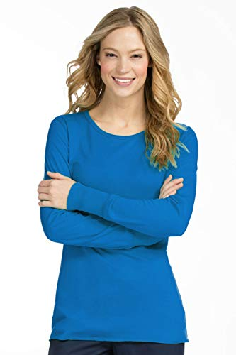 (Med Couture 4859 Long Sleeve Tee (Pacific, X-Large) )
