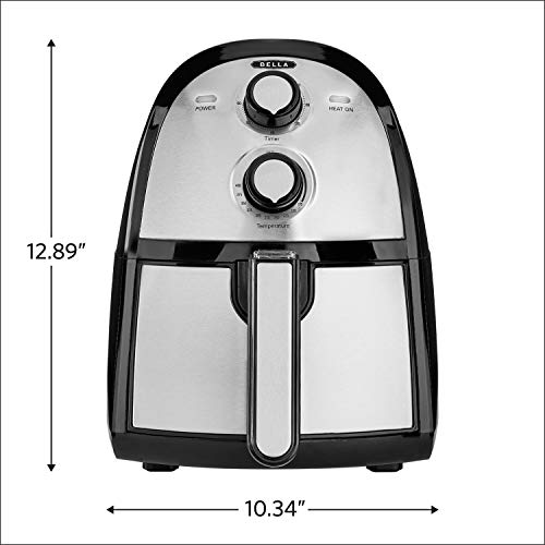 BELLA (14752) 2.6 Quart Electric Hot Air Fryer with Removable Dishwasher Safe Basket, Stainless Steel by BELLA (Image #8)