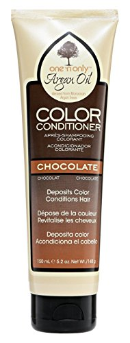One N Only Argan Oil Condition Color Chocolate 5.2 Ounce (150ml) (Argan Oil Hair Color Medium Chocolate Brown)