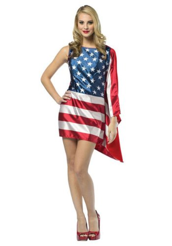 [Rasta Imposta Flag USA Dress Red/White/Blue, Women's Size 4 - 10] (Costumes Usa)