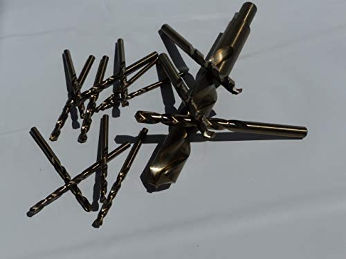 Bohrfux Metal Drill Bit Stainless Steel 0.3 mm Diameter Short Type N Right-Handed HSS / Cobalt 5% DIN 338 Pack of 10