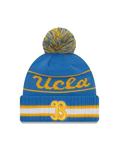 New Era UCLA Bruins College Vintage Select Knit Pom Beanie - Carolina Blue, One Size (Ucla Beanie)