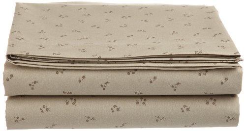 Calvin Klein Home Piccolo Blossom Queen Flat Sheet, Tan