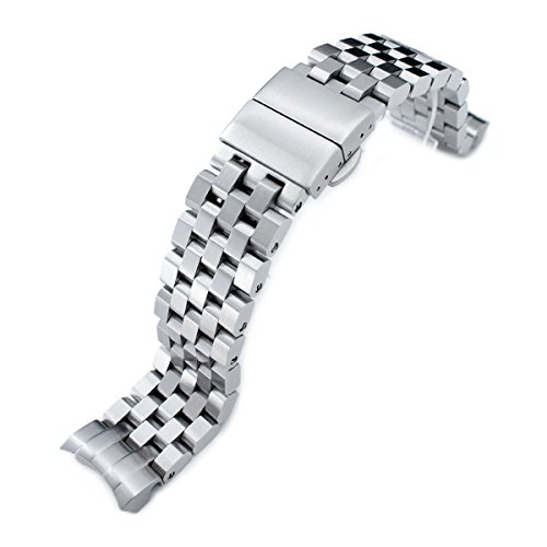 Super Engineer II watch band forSEIKO Sumo SBDC001 SBDC003 SBDC031 SBDC033, Deployant by Seiko Replacement by MiLTAT