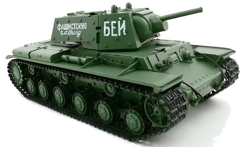 2.4Ghz 1/16 Russian KV-1's Ehkranami RC Air Soft RC Battle Tank Smoke & Sound w/ Sound & Smoking effect RC Ready To Run ()