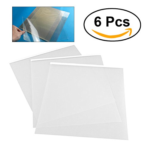 Inkjet Film 6PCS 29.7 21 cm A4 Transparent Ink Jet Adhesive Film WaterProof Transparency Silk Screen (Silkscreen Paper)