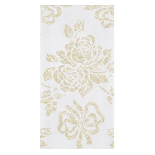 "Hoffmaster 856520 Linen-Like Guest Towel, 1/6 Fold, 17"" Length x 12"" Width, Gold Prestige (Case of 500) from Hoffmaster"
