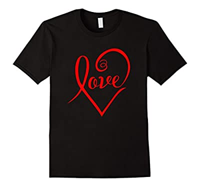 Stylish Love In Heart Valentines Day T-Shirt
