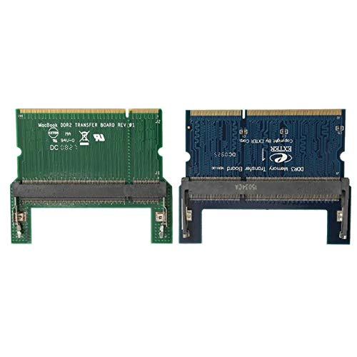 - Blue-Ocean-11 - DDR2/DDR3 Laptop SO DIMM to Desktop DIMM Adapter Memory RAM Adapter Card DDR2/ DDR3 SDRAM Adapter Computer Component
