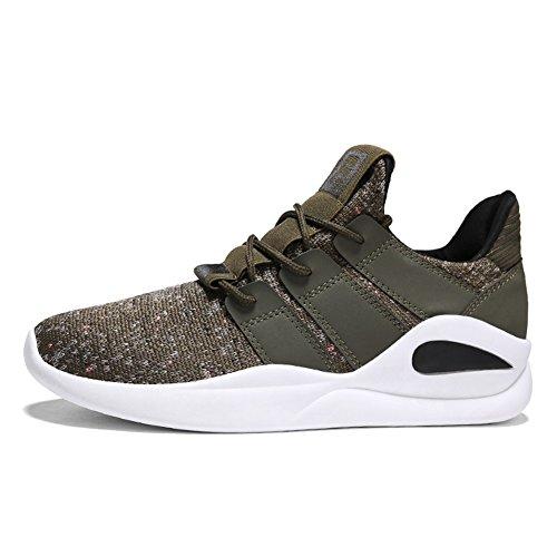 Course Chaussures Gris Hommes Vert de Sneakers Automne Chaussures en Exercice Chaussures Plein Casual Antidérapant Noir Air Printemps Voyage Respirant Green Chaussures MMM SUdHwqZw
