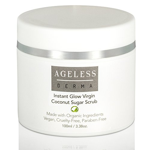 Ageless Derma Organic Sugar Face Scrub by Dr. Mostamand. A Facial Exfoliator to Give you a Smooth and Glowing Skin