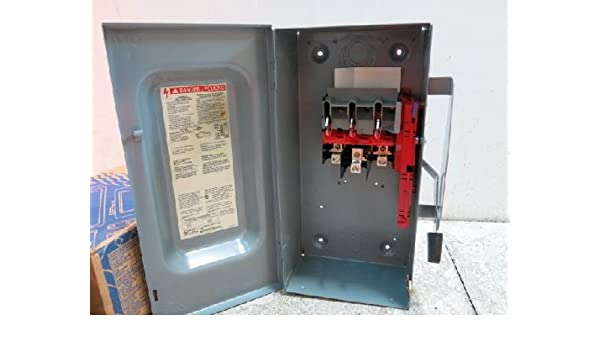 100 Amp Disconnect >> Square D Du323 Safety Disconnect Switch 100 Amp 240 Vac Amazon