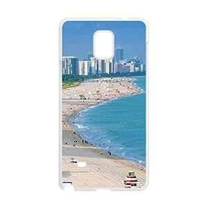 City Beach White Phone Case for Samsung Galaxy Note4