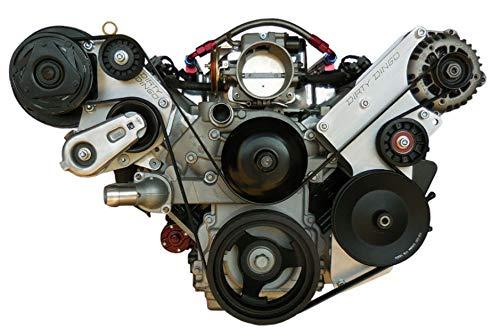 (Dirty Dingo Alternator/Power Steering & R4 AC Bracket for GM LSx Truck Engines)