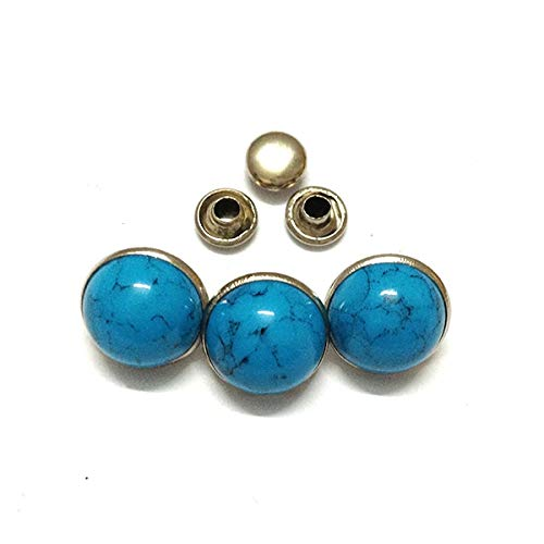 Leather Rivets Set 2000 Sets Blue Turquoise Rivets Studs Leather Craft Decoratiive Rivets 6 Mm 10mm