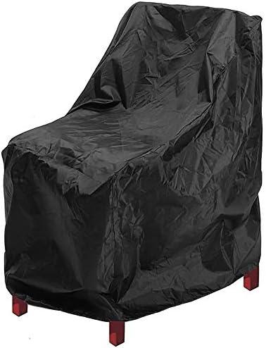 家具ダストカバー 屋外用家具保護椅子ガーデンテーブルカバー防水・防塵ソファカバーアジャスタブル弾性裾ロープ 優れた汎用性 (色 : Black, Size : 66x73x84 cm)