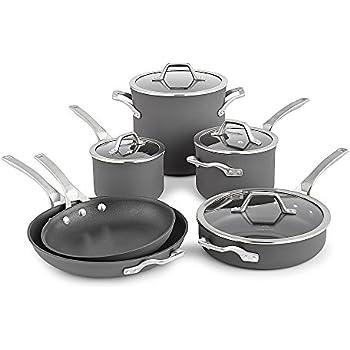 8248ed61f7c Amazon.com  Calphalon 1943337 Classic Cookware Set 12-pc Grey ...