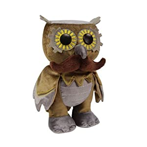 WhimWham Owl Mustache Steampunk 8-Inch Plush