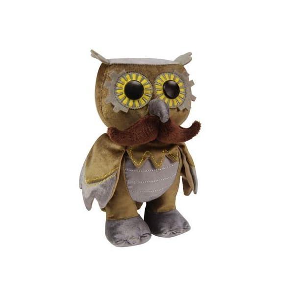 WhimWham Owl Mustache Steampunk 8-Inch Plush 3