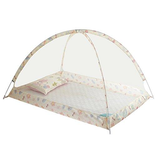 Wenje Folding Baby Kids Infant Protector Bed Zipper Canopy Mosquito Net Tent Hut 90cm120cm Yellow