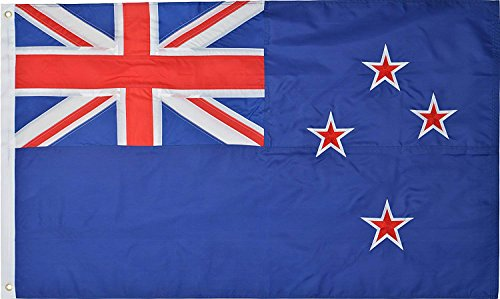 Cheap Green Grove Products New Zealand 3′ x 5′ Ft 210D Nylon Premium Outdoor Embroidered Kiwi Flag