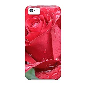 Premium Durable Red Rose Fashion Iphone 5c Protective Cases Covers