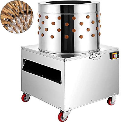 BestEquip Stainless Steel Chicken Plucker Machine 2HP Large Pro Poultry Plucker 20Inch Barrel Diameter Feather Removal Quail Plucker for Quail and Chicken