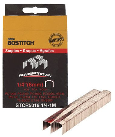 "Bostitch Stanley STCR50191/4-1M 1/4"" Power Crown Staples 1,0"